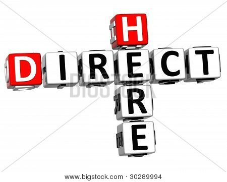 3D Get Direct Mail Here Crossword