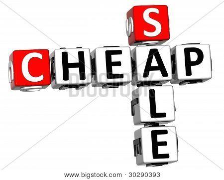 3D Cheap Sale Crossword Text