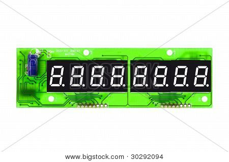 Eight-digit digital data display