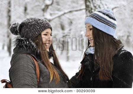 Dos niñas hermosas