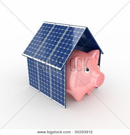 Concepto de la energía solar.