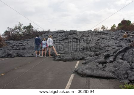 Lava Covered Road, Hawaii