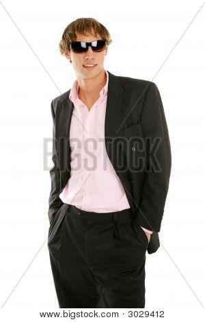 Junger Geschäftsmann In Sonnenbrillen