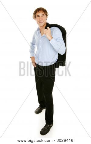Casual Young Businessman - Full Body