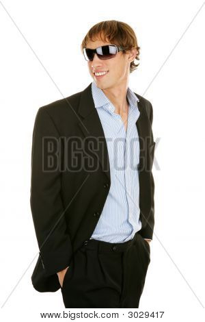 Casual Young Businessman In Sunglasses