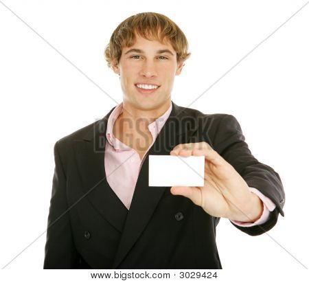 Young Businessman - Business Card