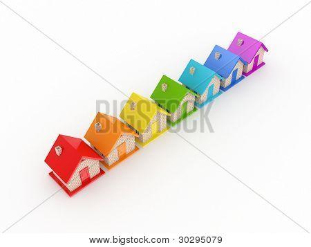 Conceito de bens imobiliários.