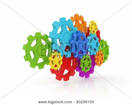 Colorful gears.