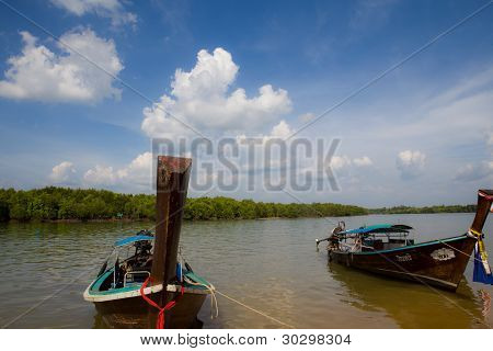 The boat of Thai local fisherman