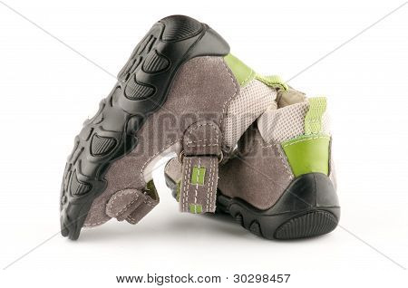 Baby Shoes Sandals with Velcro fastener close up