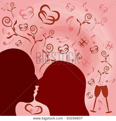 Romantic nostalgia illustration