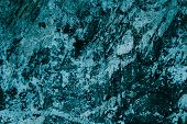 Abstract Turquoise Pattern Of Granite Slab. Black And Blue Paint Background. Turquoise Marble Wall T poster