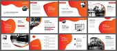 Presentation And Slide Layout Background. Design Red And Orange Gradient Template. Use For Business  poster