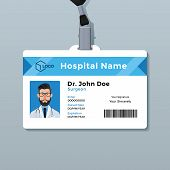 Doctor Id Card Template. Medical Identity Badge poster