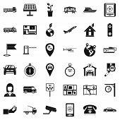 Navigation System Icons Set. Simple Set Of 36 Navigation System Icons For Web Isolated On White Back poster
