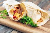 bacon chicken wrap - meat of bacon fume cooked poster