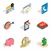 Excellent Start Up Icons Set. Isometric Set Of 9 Excellent Start Up Icons For Web Isolated On White  poster