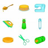 Asset Icons Set. Cartoon Set Of 9 Asset Icons For Web Isolated On White Background poster