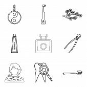 Aroma Oil Icons Set. Outline Set Of 9 Aroma Oil Icons For Web Isolated On White Background poster