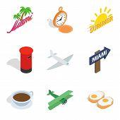 Forwarding Icons Set. Isometric Set Of 9 Forwarding Icons For Web Isolated On White Background poster
