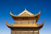 picture of emei  - The golden palace on Golden Summit in Mount Emei - JPG