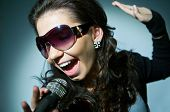 foto of rock star  - Rock star The girl sings  - JPG
