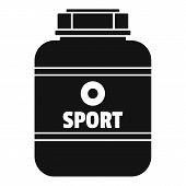 Sport Nutrition Plastic Jar Icon. Simple Illustration Of Sport Nutrition Plastic Jar Vector Icon For poster
