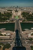 River Seine And Trocadero Building Seen From The Eiffel Tower In Paris poster