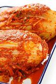 stock photo of kimchi  - homemade kimchi - JPG