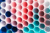 Abstract Colorful Background. Background From Cocktail Tubes Close Up. Soft Focus. Cocktail Tubes Of poster
