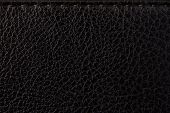Skin Texture Leather Material. Black Embossed Background. Natural Material. Leather Product. Abstrac poster
