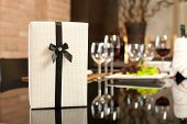 Gift In Romantic Dinner