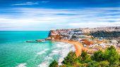 Picturesque Peschici With Wide Sandy Beach In Puglia, Adriatic Coast Of Italy. Location Peschici, Ga poster