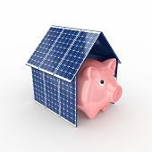 stock photo of solar battery  - Solar energy concept - JPG