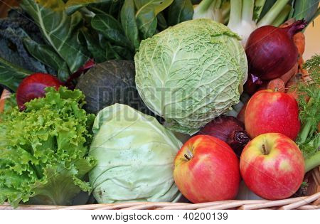 Apple Cabbage Coleslaw And Fresh Fruit On Sale