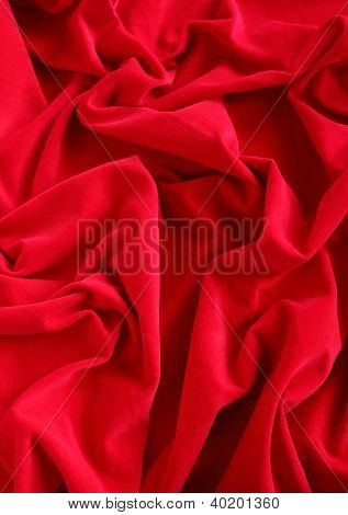 Red Velour  Fabric Background