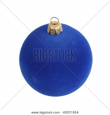 Bola de árbol azul oscuro