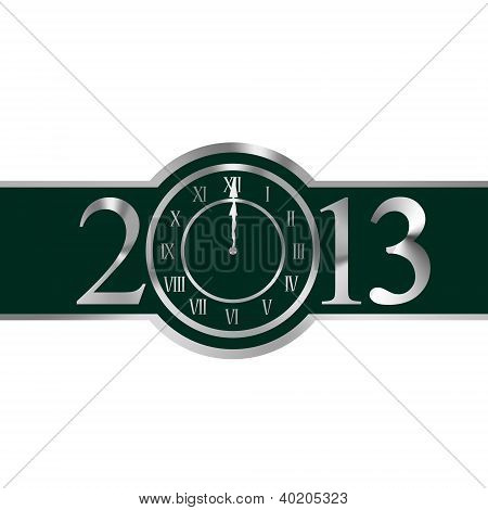 New Year 2011 Concept With Clock