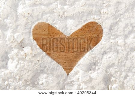 Heart Shape From Flour
