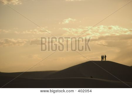 Sand Dunes And Sunset