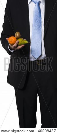 Manager Holding Some Easy Found Fruit