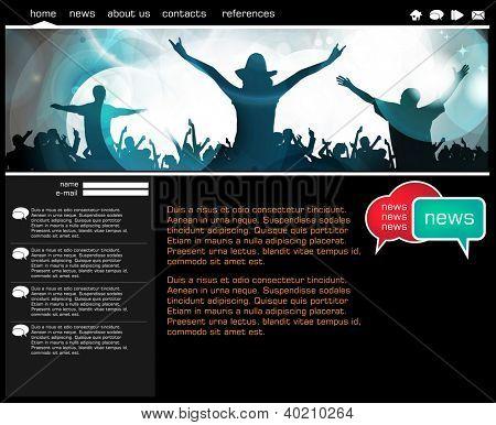 Vorlage für Website-Design, Vektor.