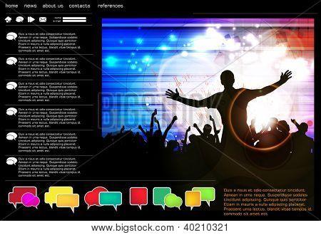 Vorlage für Website-Design, Vektor