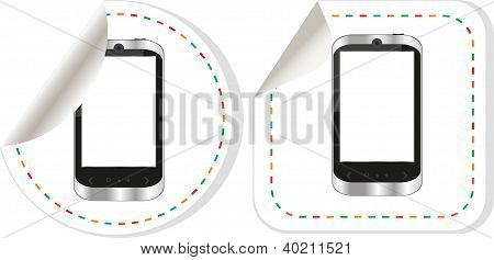 Smart Phone iphone With Blank Screen Stickers Set