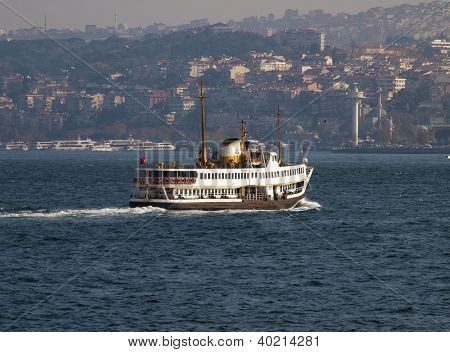 Ferry over the Bosporus Instanbul Turkey