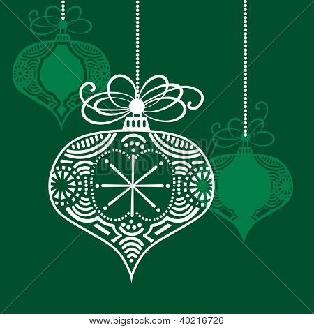 Elegant christmas bauble handcrafted
