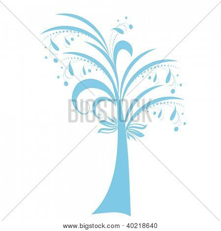 Beautiful art tree isolated on white background