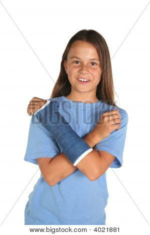 Young Girl With Cast