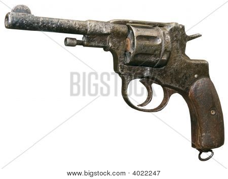 Isolated Rusty Obsolete Vintage Sixshooter 1