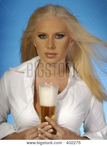 Sexy Blond With Beer 3